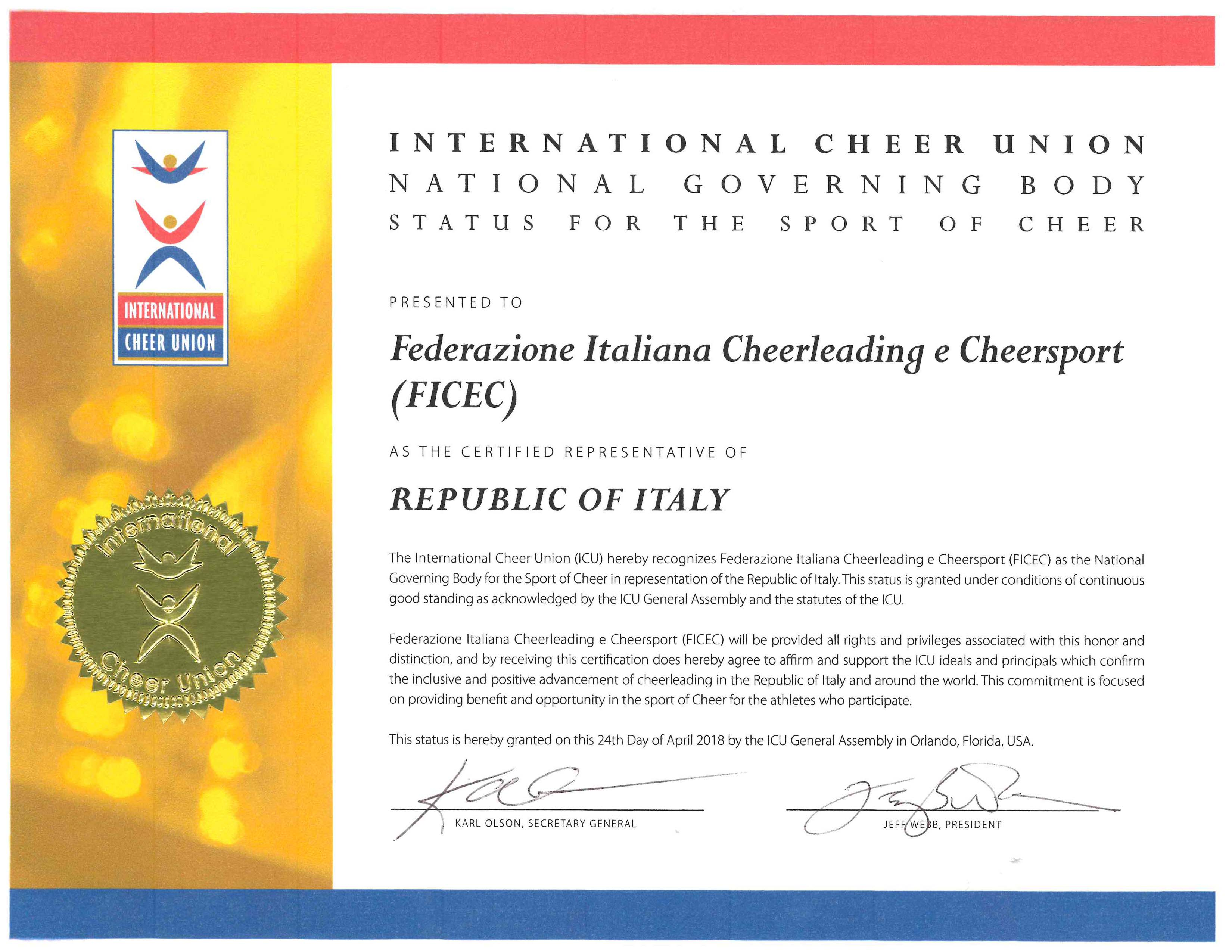 icu certificate recognition italy